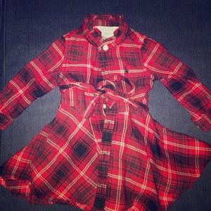 Ralph Lauren Plaid Dress (with pants) 6mo